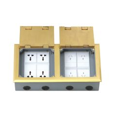 Big Capacity Brass Alloy Material Open Type Floor Boxes