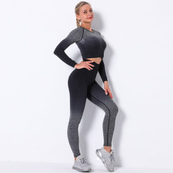 Fashion Design Tie-Dyed Gradual Change Sport Wear Seamless Yoga Gears