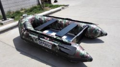 Popular Camoflage Military Grade PVC Inflatable Boat, Fishing Boat, Rowing Boat