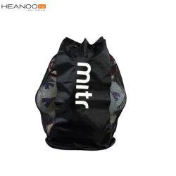 Mesh Breathable Carrier Drawstring Backpack Hockey Ball Bag for Football Soccer