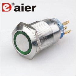 CE 19mm Light Waterproof Dpdt Push Button Switch