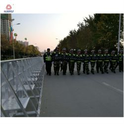 Lightweight But Strong Crowd Control Folding Guardrail / Road Barrier / Aluminum Barrier