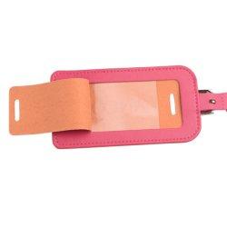 PVC Window Custom Embossed Pink PU Leather Luggage Accessories