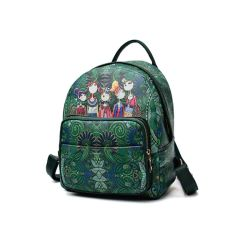 2018 Girls PU Leather Backpack Bag with Stitchwork