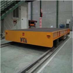 5- 50 Ton Steel Coil Electric Warehouse Rail Transfer Carts Car