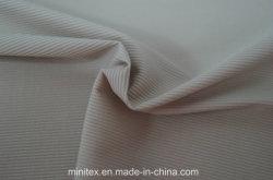 Lmn984 Nylon Polyamide Microfiber Spandex 2*2 Rib Semi Dull DTY Knitted Knitting Stretch Elastic Sportswear Fabric