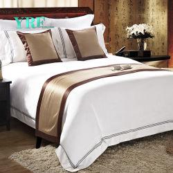 Yrf Customized 100% Cotton Bedding King Size Luxury White Hotel Bedding Set
