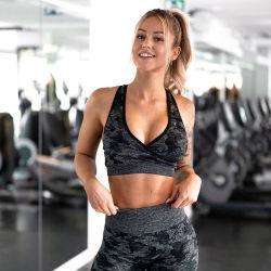 Women Gym Camouflage Leggings Set Bra and Yoga Pants Set Fitness Wear Outfit Sport Wear Seamless Yoga Set
