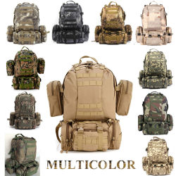 Solid Nylon Wearproof Outdoor Sport Climbing Camping Hiking Combined Trekking Molle Travel Bags Military Tactical Backpack