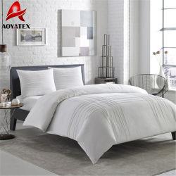 100% Polyester Hotel Microfiber Quilt, White Comforter Set