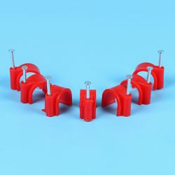 Round Cable Clip with Steel Nail, 4mm to 40mm, Wholesale Directly From China Manufacturers