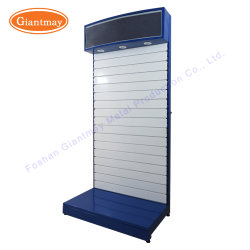Factory Directly Garden Machine Hanging Power Hand Tool Accessories Metal  Slatwall Display Stand Rack With LED