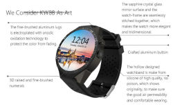Kw88 3G Call Android Smart Phone Smart Watch Red Color