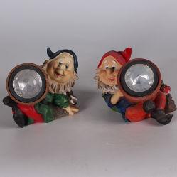 Hot Sale Custom Resin Garden Gnome Solar Light