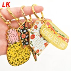 Wholesale Promotional Souvenir Decoration Customized Custom Zinc Alloy 2D 3D Colorful Enamel Logo Gold Metal Personalized Ring Key Chain for Promotion Gifts