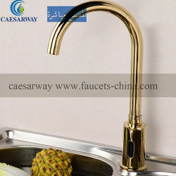 Golden Sanitary Ware Automatic Sensor Water Kitchen Faucet Touchless Mixer