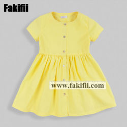 bb228a0680946 2019 Wholesale Girl Clothes Summer Kids/Baby/Infant Wear Yellow Cotton  Children Dress