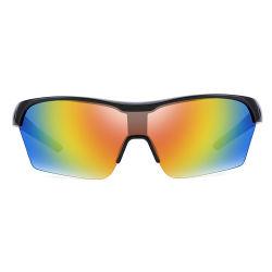 39551367a8e38 2019 Cycling Half Frame Colored Mirror Black Sports Sunglasses