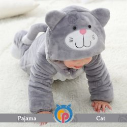 Manufacture Wholesale Animal Costume Cat Style Suitable Baby Wear with Hood