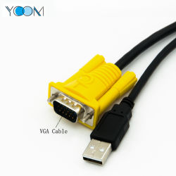 ycom factory direct sale print vga to usb ethernet switch cable