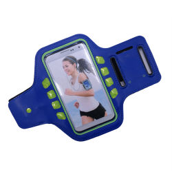 Multi Colors Neoprene Waterproof Arm Phone Bag with LED Flash