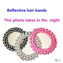 Reflective Telephone Cord Night Use Sport Hair Accessories