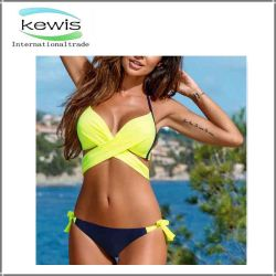 Women Two Pieces Colorful Girls Summer Swimwear