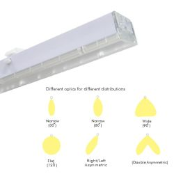 150 Lm/W LED Linear Line Trunking System Tube Light for Warehouse