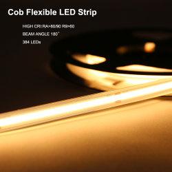 4000K 8mm 6W 24V IP67 240LEDs/M LED Strip Light Waterproof COB LED Light Strip for Indoor and Outdoor Decorative Lighting