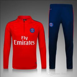 Wholesale Customized 2016/2017 Thai Quality New 16 17 Real National Team Paris Long Sleeve Training Clothing Embroidery Free Shipping