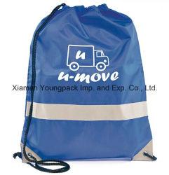 Wholesale Cheap Promotional Gift Bag Custom Printed Waterproof Sling Bag Sports Gym Sack Bag Travel Shoe Bag 100% Polyester Nylon Drawstring Cinch Backpack Bags