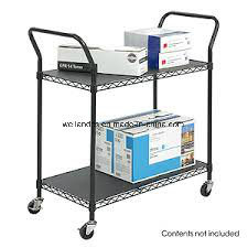 Wholesale Powder Coating Steel Office Hand Push Trolley