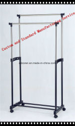 Brushed Stainelss steel Double Clothes Rail