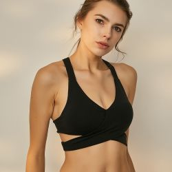 Women's Sports Wear Breathable and Stable Lacing Gym Bra Rims Yoga Gears