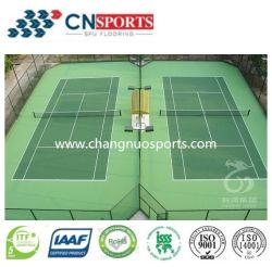 Outdoor Silicon PU Court for Tennis, Volleyball, Badminton, Basketball,