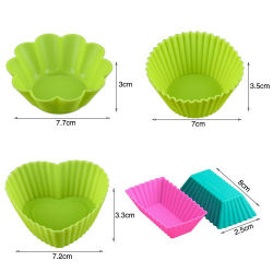 Custom Silicone Cupcake Mold Reuse Muffin Cup Cake Mold