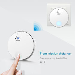 Wholesale Wirelss Multi Family Music Electric Doorbell Christmas Smart Round Bell Round Chime