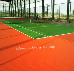 Outdoor Tennis Court Sports Plastic PVC Flooring Sheet -8.0mm Thickness Made in China