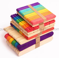OEM Various Size Colorful Wooden Ice Cream Stick