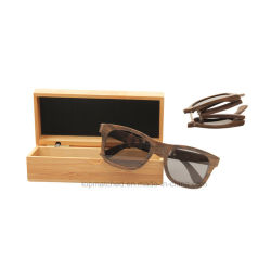 ff6803c1b5 Custom Colourful Wooden Frame Polarized Folding Wooden Bamboo Sunglasses