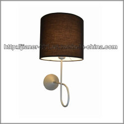 Modern Hotel Bedside Wall Light Lamp, Decorative Wall Sconces Lamp with Fabric Shade