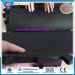 Interlocking Rubber Flooring Mat for Parks, Rubber Tile Paver