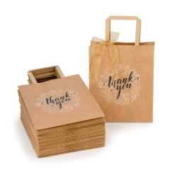 Cement Flat Paper Handles Paper Shopping Bag