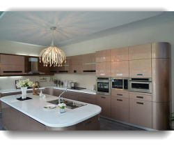 China Whole Customized High Gloss Polyurethane Uv 2 Pac Metallic Modern Lacquer Kitchen Cabinet