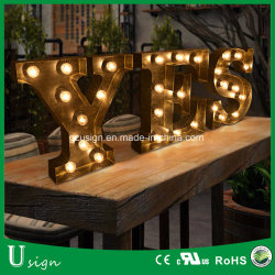 high quality indooroutdoor large light up marquee bulb letters