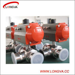 Stainless Steel Sanitary Ball Valve with Pneumatic Actuator
