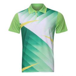 Wholesale Short Sleeve Sports Men Tennis Polo T Shirts Quick Dry Badminton Polo Shirt with Custom Logo