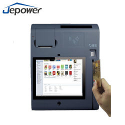 Cheap Touch Screen Coutertop POS Terminal Machine with Fingerprint Reader GPRS