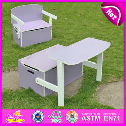 New Design Competitive Price Kid Storage Box, Portable Children Wooden Toy Box, Storage Box Can Change to Study Table W08g017A