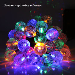 festival and decorate colorful bubble outdoor christmas 30 led solar garden string light